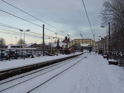 Johnstone station after the heavy snow fall of 6th December