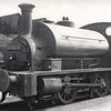 56028. A Drummond 264 Class 0-4-0ST Pug at Greenock Ladyburn Shed in June 1950. Built for the Caledonian Railway in 1895 as CR 613 it became LMS 16028 on grouping and was classed by LMS as Class 0F. It was withdrawn in 1957 at Greenock (Ladyburn) and scrapped in 1957. Photo taken by J Davenport