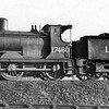 """17460. A Drummond 294 """"Jumbo"""" Class 0-6-0ST Pug. It was built for the Caledonian Railway in 1897 as CR 596. It became LMS 17460 on grouping and 57460 by BR at nationalisation. It was classed by LMS as Class 2F. It was withdrawn at Stirling South in 1957 and scrapped at Kilmarnock Works"""