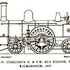 2. A  Patrick Stirling 2 Class 2-2-2 of Glasgow & South Western. The loco was built in Kilmarnock in 1857