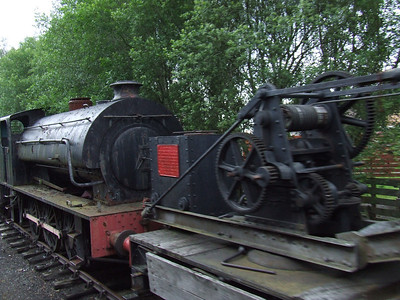 A Hunslet War Department Austerity 0-6-0ST No.48 stored at Aviemore awaiting overhaul
