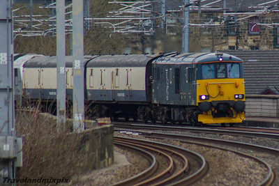 73966 GBRf  (Caledonian Sleeper livery) Paisley Gilmour Street 16/03/2016