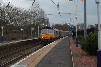 66705 passing through Jonhstone with a loaded coal train from Hunterstone High Level