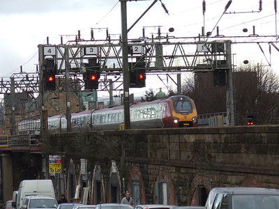 Class 221 Bridge Street Junction Glasgow 16/02/2010