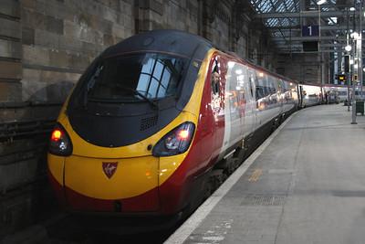 390053 Mission Accomplished at Platform 1 having arrived to form the 0900 service to London Euston