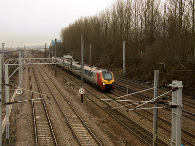 Class 221 Larkfield Junction Glasgow 30/01/2012