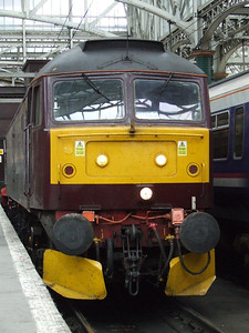 47760 waiting to depart from Glasgow Central after the Great Britain II tour had departed