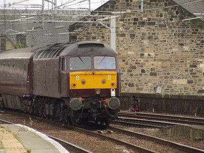 47787 On the rear of the Northern Belle on it's way to Wemyss Bay Paisley Gilmour Street Paisley 29/08/2008