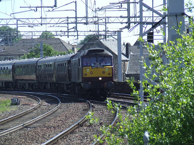 47787 At the head of the Royal Scotsman on it's way to Wemyss Bay Paisley Gilmour Street Paisley 31/05/2009
