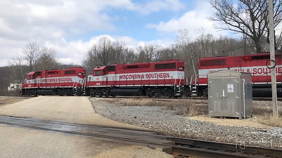 Two Wisconsin & Southern trains