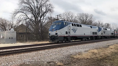 Amtrak Tuesday in Franksville Wisconsin