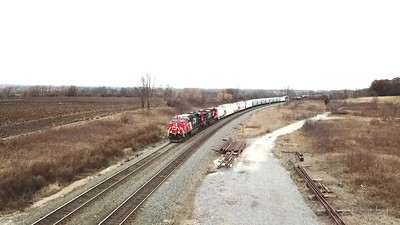 CN A446  with helpers climb up Byron Hill - This week in trains.