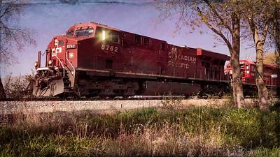 Springtime Railfanning - CP Manifest Full Train - 4K Ultra HD