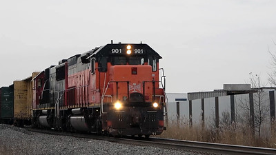 Rare locomotive BLE #901 departs the Valley siding at Fond du Lac, WI