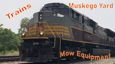 Muskego Yard Arrivals - CP 7011 - Mow Equipment - Railfanning Milwaukee, WI