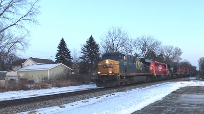 Too Much Power? CSX 5207 leads a CP Manifest Westbound - Oconomowoc, Wisconsin