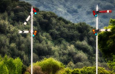 Semaphore Signals, Niles Canyon Railway, Sunol, California, 2010
