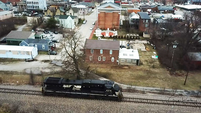 NS 9404 headed east through New Albany, Indiana
