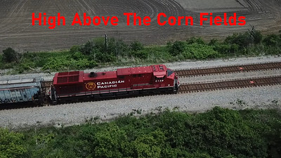 Railfanning With Drone - I Waited All Afternoon - CP Rail