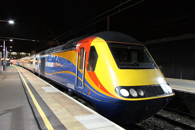 3 April. Pride of Leeds, 43049 Neville Hill stands at Bedford with a service to St. Pancras International.