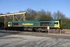 16 April. Heavy haul 66599 is seen at Calvert having worked the 0921 Cricklewood - Calvert 'bins'.
