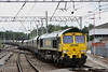 18 August. 66545 snakes into Carlisle on the 4S28 0745 Fiddlers Ferry - Killoch.