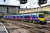 18 August. Trans Pennine Express 185103 departing Carlisle on the 1254 Glasgow Central - Manchester Airport.