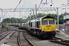 18 August. Former low emission demonstrator loco 66952 at Carlisle on the 4S41 0913 Sudforth Lane - Hunterston.