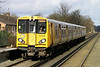 20 February. 507018 pulls away from Port Sunlight working the 1049 Ellesmere Port - Liverpool Central.
