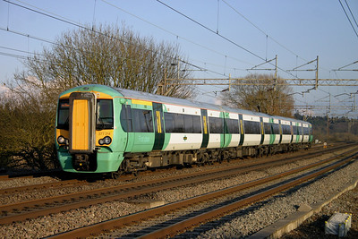 19 February. Working the 1410 East Croydon - Milton Keynes, 377214 passes Chelmscote.
