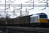 5 February. The light is far from its best but 67029 Royal Diamond is caught at Bradwell on the 1442 Daventry - Wembley vans.