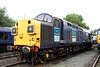 10 July. The beast that is split headcode 37087 Keighley & Worth Valley Railway 40th Anniversary 1968-2008 at Gresty Bridge open day.
