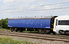 3 July. Recently repainted EMU translator Mark 1 vehicle 6376 now bears Porterbrook blue livery. Seen here passing Chelmscote in the formation of a class 465 move from Wolverton - Slade Green.