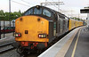 5 July. Old DRS liveried 37038 in the bay platform at Milton Keynes with the 3Q68 1845 Euston BOR - Euston BOR via Milton Keynes.