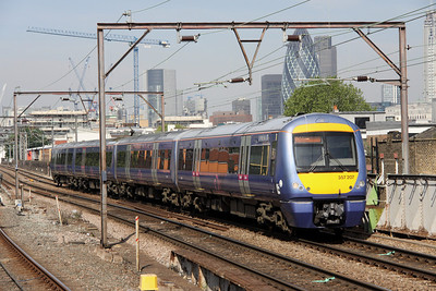 5 June. 357207  JOHN PAGE passing Shadwell with the 0935 Fenchurch Street - Grays.