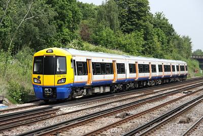5 June. 378154 leaves Honor Oak Park entrusted with the 1139 West Croydon - Dalston Junction.