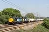 4 June. 37059 + 37611 head the 4M71 1053 Tilbury - Daventry sugarliner at Chelmscote.
