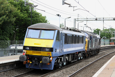 18 June. The going away view of 90013 at Wolverton.