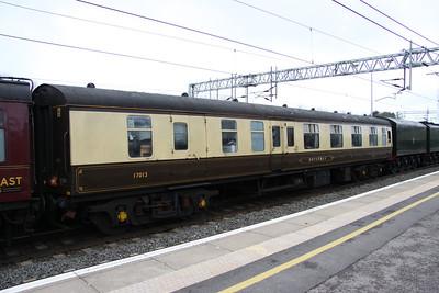 27 March. Mark 1 Corridor Brake First Locomotive Support Coach vehicle 17013 BOTAURUS at Milton Keynes.