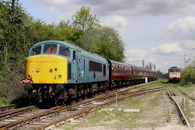 15 May. 46010 leads the 1100 Ruddington - Loughborough into Rushcliffe Halt.