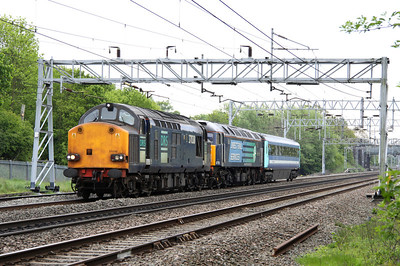 14 May. 37038 + 47790 Galloway Princess approach Bradwell with 12084 en route to Wolverton Works ex Norwich Crown Point.