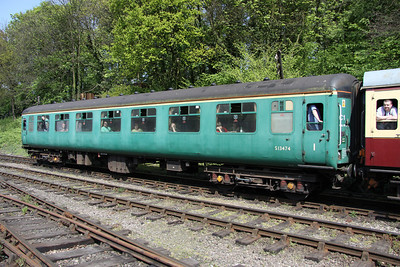 15 May. Mark 2A Corridor First vehicle 13474 at Shackerstone.
