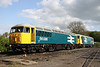 15 May. Large logo rules - and so it should in my view ! 56086 + 73114 rest at Shackerstone.