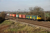 26 November. 86's 86605 + 86609 pass Chelmscote heading the 4L75 0958 Crewe Basford Hall - Felixstowe.
