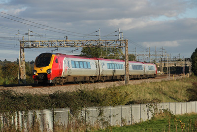 16 October. 221143 Auguste Picard passing Chelmscote with the 1605 Euston - Chester.