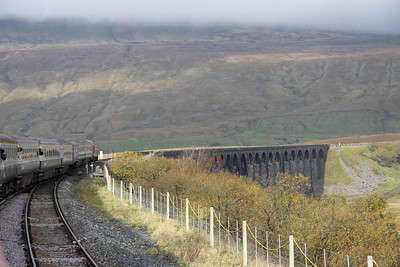 30 October. 67025 Western Star leads over the majestic Ribblehead Viaduct.