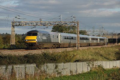 16 October. 82301 leads the 1500 Marylebone - Wrexham General past Chelmscote with 67014 on the rear.