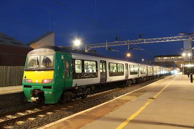 1 September. 321416 + 321411 stand ECS at Bletchley.