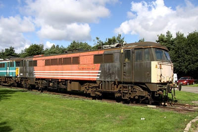 12 September. 87025 the former County of Cheshire and if you are older, Borderer, stands in the sun at Long Marston open day.