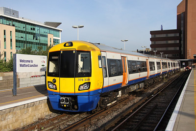 4 September. The new order for Watford - Euston services. 378229 waits at Watford Junction having arrived on the 0717 from Euston.
